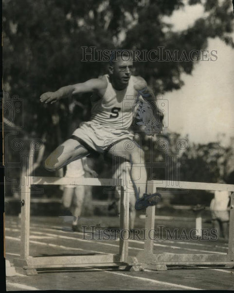 1924 Press Photo Hugo Leistner Stanford University track at IC4A meet - Historic Images