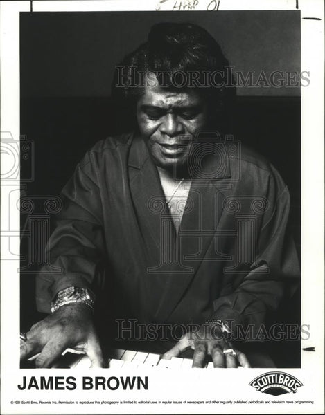 1991 Press Photo James Brown - Historic Images