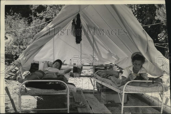 1939 Press Photo Girl Scouts 4 Echoes Camp - spx09967 - Historic Images