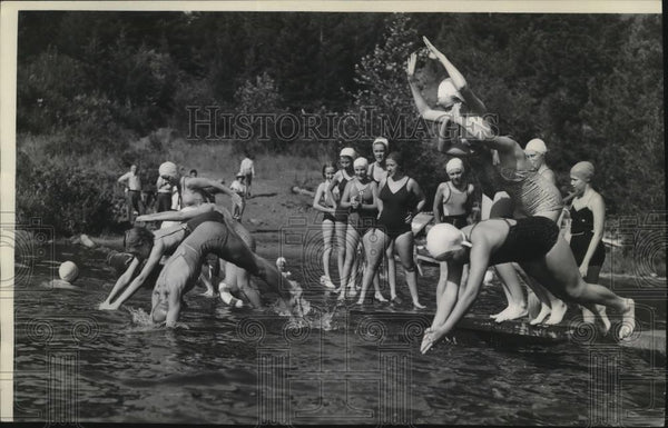 1939 Press Photo Girl Scouts 4 Echoes Camp - spx09968 - Historic Images