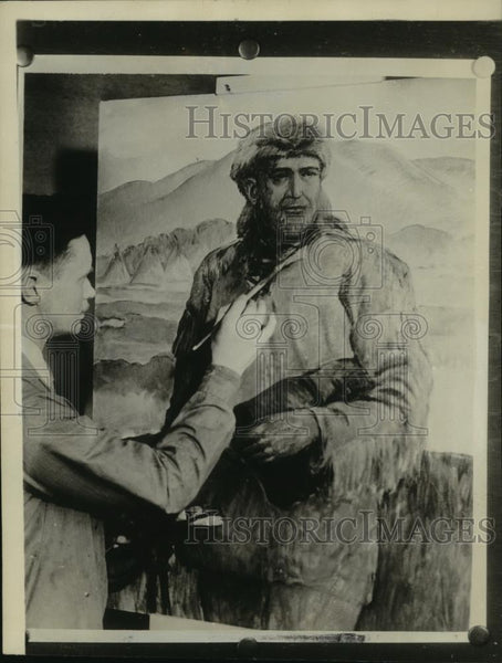 1936 Press Photo Portrait of Marcus Whitman by Alfred McVay Walla Walla Wash - Historic Images