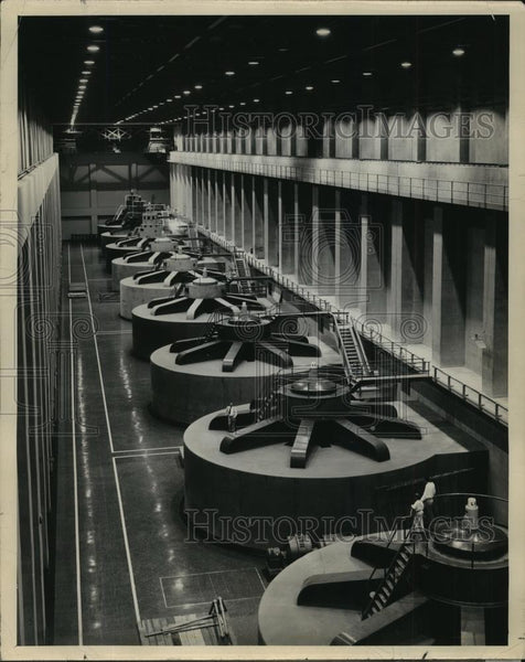 Press Photo West Powerhouse at the Grand Coulee Dam - spx10097 - Historic Images