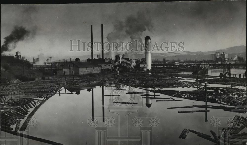 1941 Press Photo McGoldrick Lumber Mill - spx10732 - Historic Images