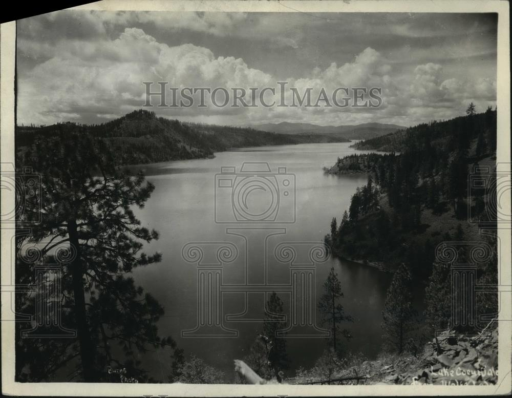 1942 Press Photo General view of Lake Coeur d'Alene, Idaho - spx11150 - Historic Images