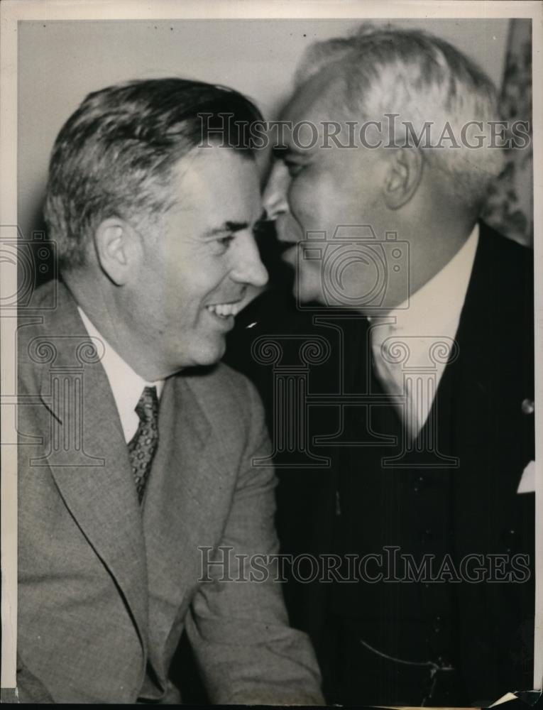 1940 Press Photo Secretary of Agriculture Henry Wallace & Paul McNutt - Historic Images
