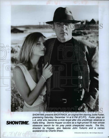 0b18c3b7 1991 Press Photo Jodie Foster and Dennis Hopper in Backtrack - cvp59166 -  Historic Images