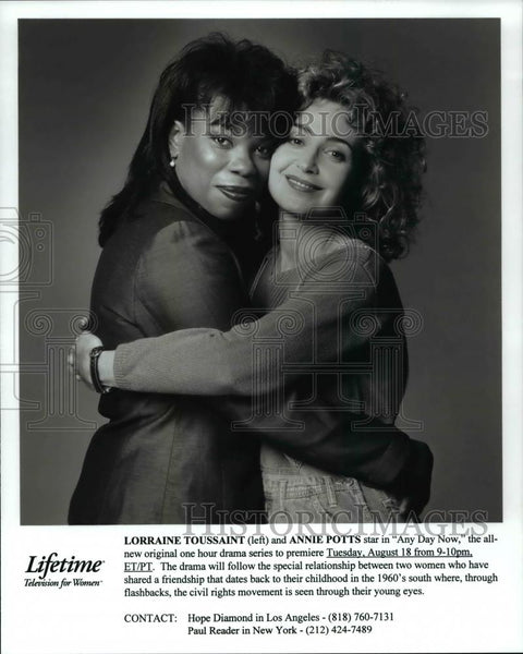 1998 Press Photo Lorraine Toussaint & Annie Potts in Any Day Now - cvp59687 - Historic Images