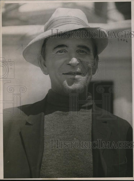 1916 Press Photo Captain August Wervetzer Aboard S.S. Newport - nef43818 - Historic Images