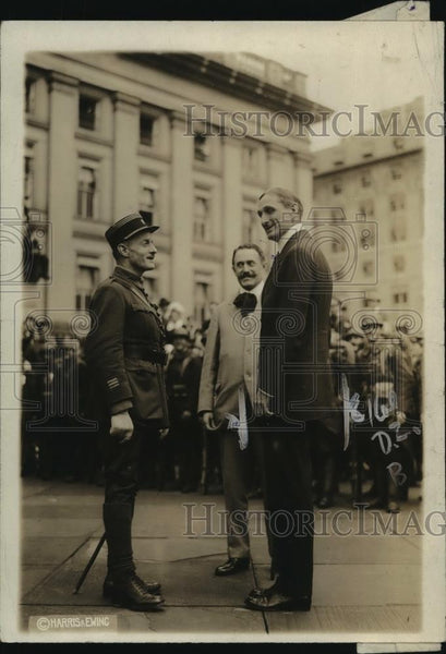 1918 Press Photo William Gibbs McAdoo, Maurice de Gery, Louis Aubert of France - Historic Images