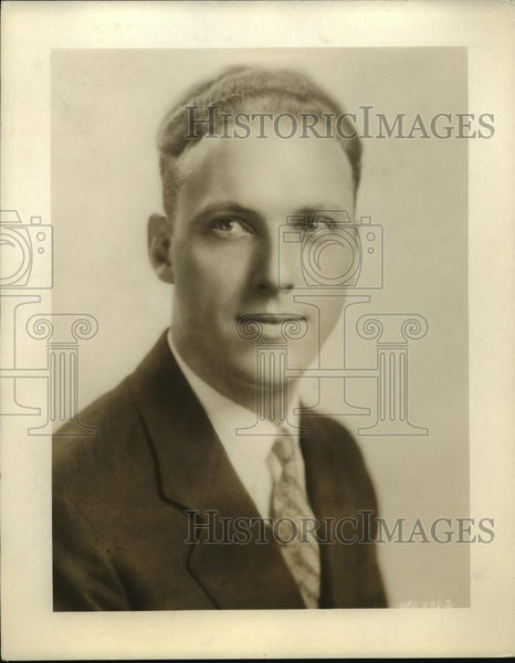 1931 Press Photo Howard Petrie, NBC Announcer - nef50685 - Historic Images