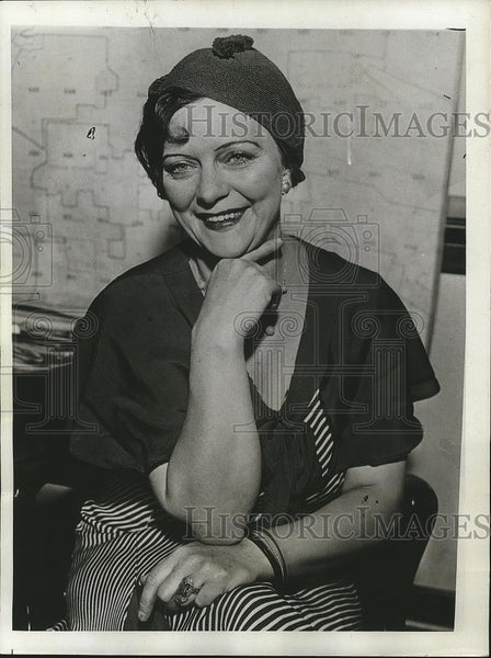 1933 Press Photo Jessie Gibson Barber After Winning Divorce from Rex E. Barber - Historic Images