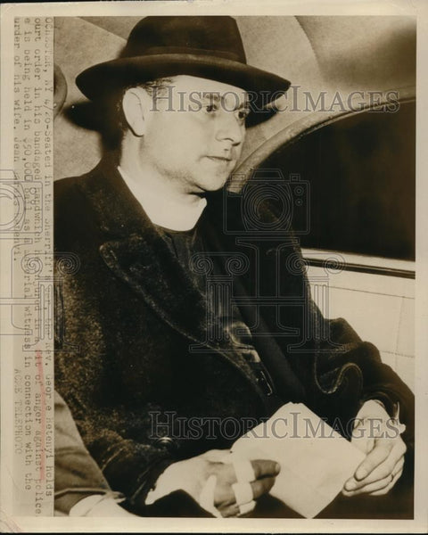 1949 Press Photo Reverend George Hetenyi Arrested in Connection w/ Wife's Murder - Historic Images