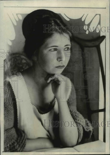1923 Press Photo Helen V. Collins, Handicapped - nef34279 - Historic Images