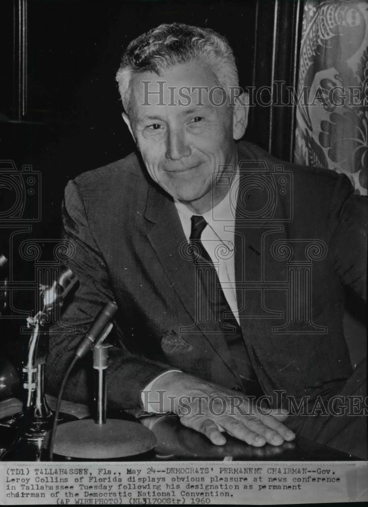 1960 Wire Photo Governor Leroy Collins of Florida - spw00794 ...