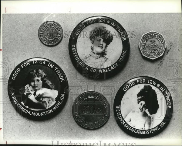 1984 Press Photo Various coins originating in Idaho - spa38020 - Historic Images