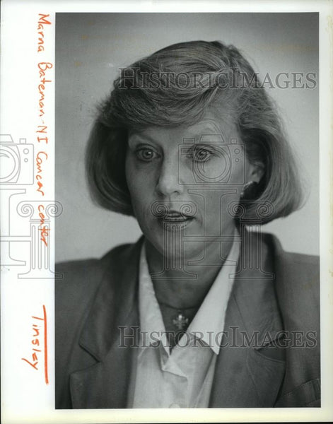 1991 Press Photo Marna Bateman of North Idaho Cancer Center. - spa37010 - Historic Images