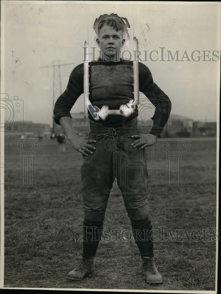 1926 Press Photo Ed Eickmann, Purdue University football Team Tackle - neo01199 - Historic Images