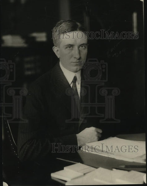 1921 Press Photo S. Parker Gilbert, Assistant Secretary of US Treasury - Historic Images