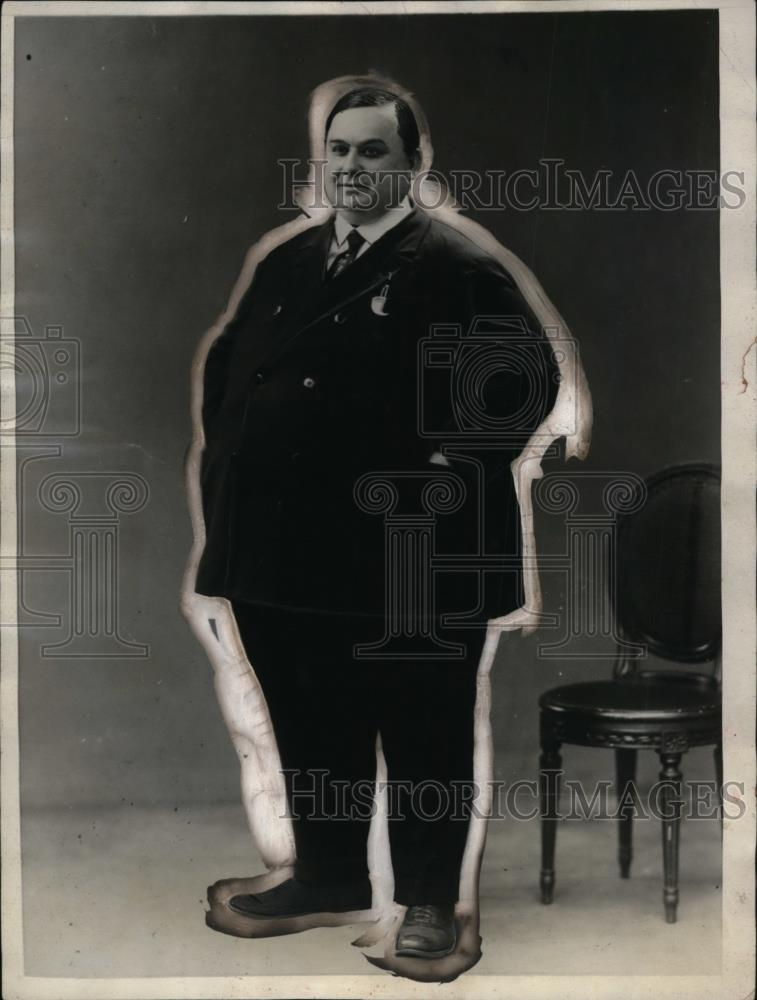 1926 Press Photo Monsignor Sutty, President Paris, France 200-Pound Club - Historic Images