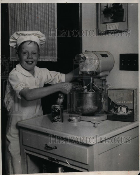 1930 Press Photo Boy David C. Nutt, Offered Job as White House Chef - neo00601 - Historic Images