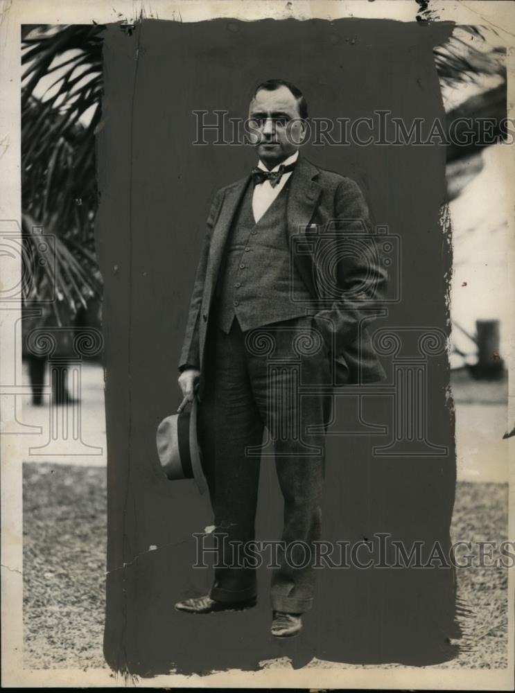 1931 Press Photo Matthew Woll, AFL Prohibition Committee Leader in Miami - Historic Images