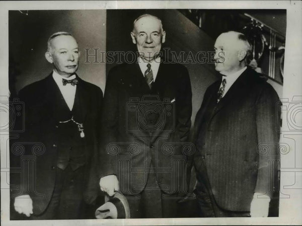 1932 Press Photo AFL convention Thomas Donnelly, George White, James Wilson - Historic Images