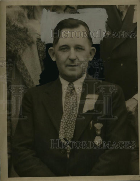 1934 Press Photo Edward J Haugh leader of Painters Union - neo00856 - Historic Images