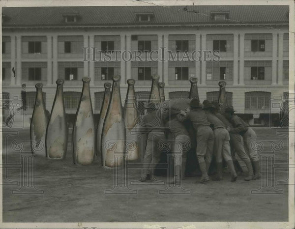 1922 Press Photo The United States Marines have a giant bowling game - nef64794 - Historic Images