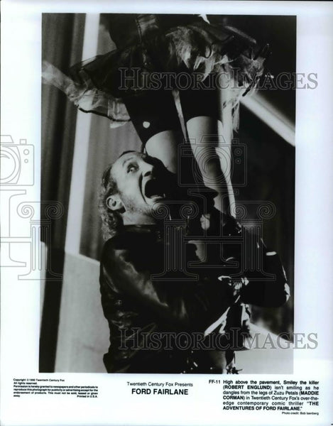 Press Photo Robert Englund and Maddie Corman in Ford Fairlane - cvp45672 - Historic Images