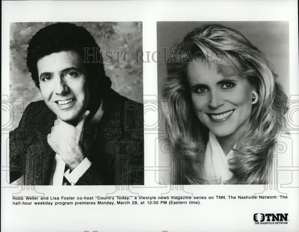 Press Photo Robb Weller and Lisa Foster in Country Today - cvp50658 - Historic Images