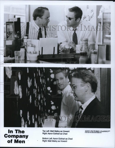 Press Photo Matt Malloy and Aaron Eckhart in The Company of Men - cvp58763 - Historic Images