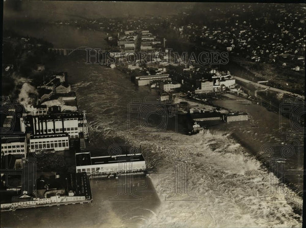 1930 Press Photo Air view of Western Oregon after the heavy rains - orb44554 - Historic Images