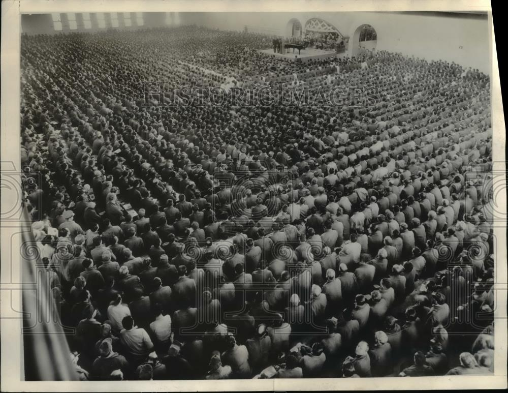1935 Press Photo Aerial view of 5500 inmates of the California prison - Historic Images
