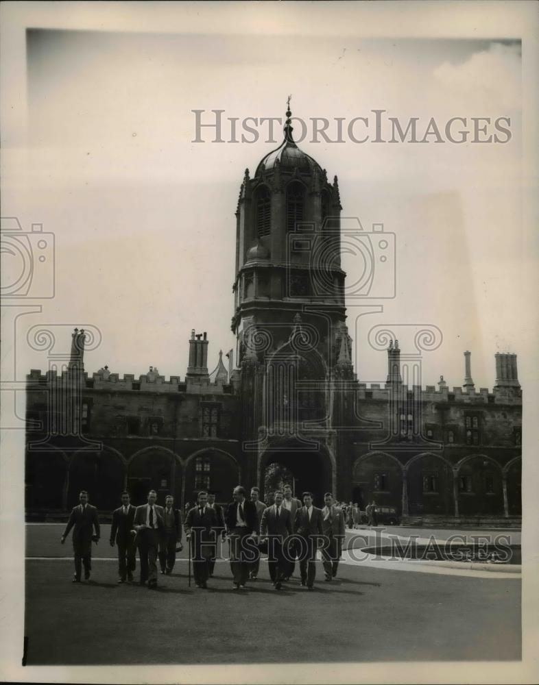 1948 Press Photo American Rhodes Scholars-England's Oxford University - Historic Images