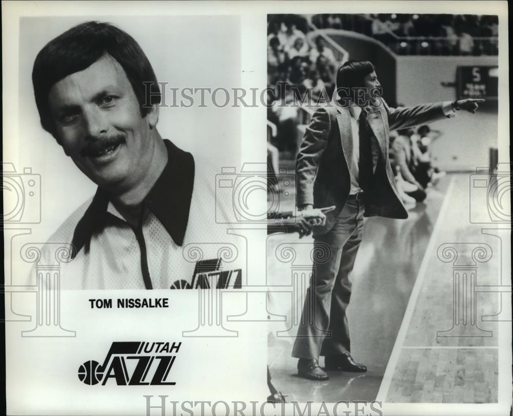 Press Photo Tom Nissalke, Utah Jazz - orc10090 - Historic Images