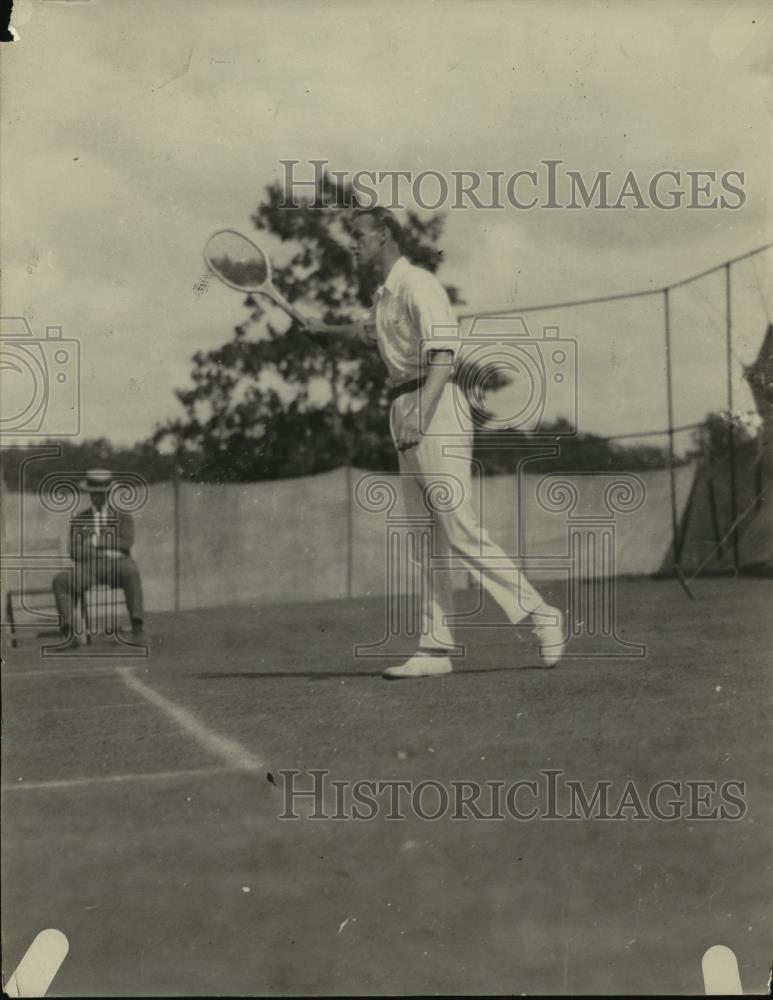1921 Press Photo Tennis player JO Anderson in action on the courts - net33511 - Historic Images