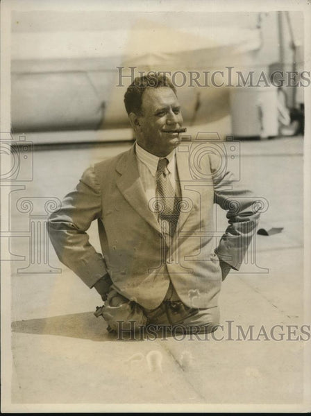 1931 Press Photo Charles Zimay legless world champ swimmer swam 100 hours - Historic Images