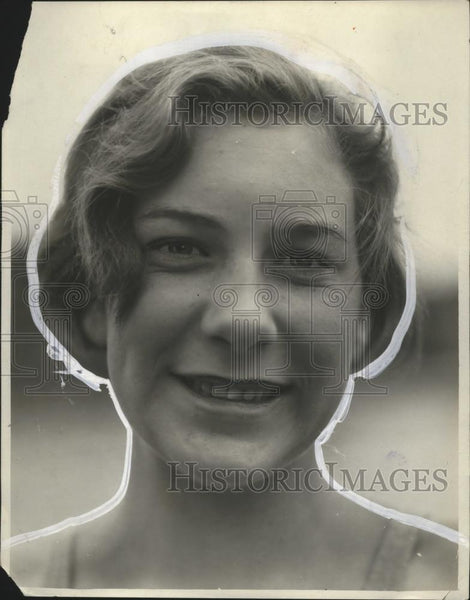 1930 Press Photo Seattle swimmer Helene Madison at a meet - net31685 - Historic Images