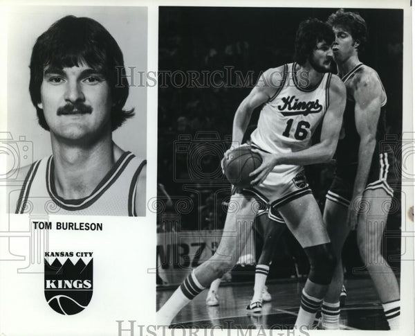 Press Photo Tom Burleson, Kansas City Kings - orc09991 - Historic Images