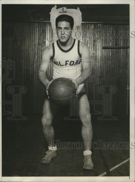 1931 Press Photo Jerry Friedman at basketball Milford Prep School - net31701 - Historic Images