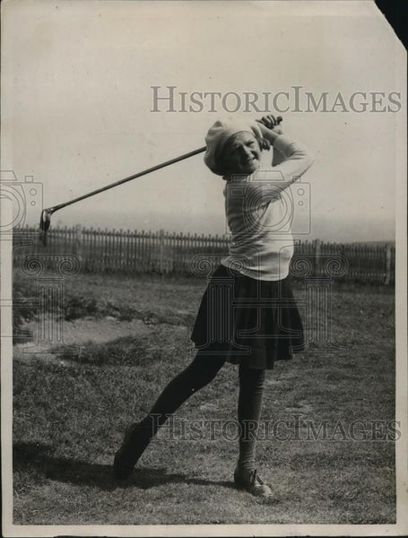 1922 Press Photo Peggy Pullen at girls golf tournament at North Foreland - Historic Images