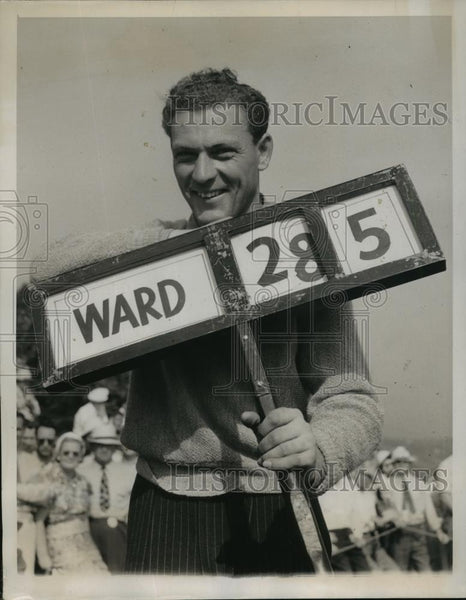 1939 Press Photo Marvin Bud Ward at National Open Golf in Philadelphia - Historic Images