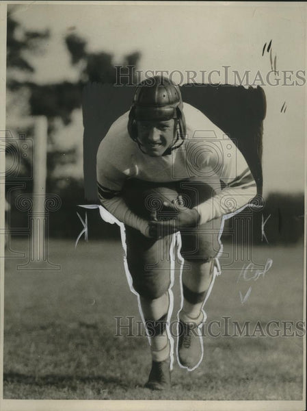 1928 Press Photo Harlow Rothert Stanfor fullback also plays quarterback - Historic Images