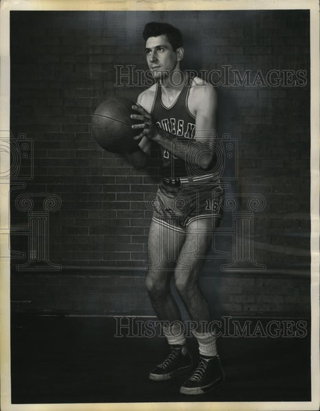 1950 Press Photo Duquesne senior basketball guard Steve Skendrovich - net31548 - Historic Images