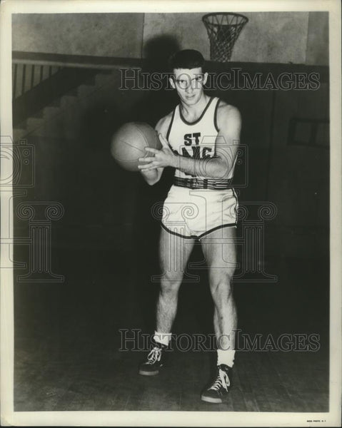 1950 Press Photo St Francis College basketball captain Tom O'Connor - net31823 - Historic Images