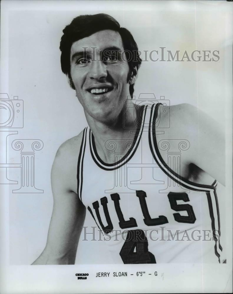 "1974 Press Photo Jerry Sloan, 6'5"", G, Chicago Bulls - orc11457 - Historic Images"
