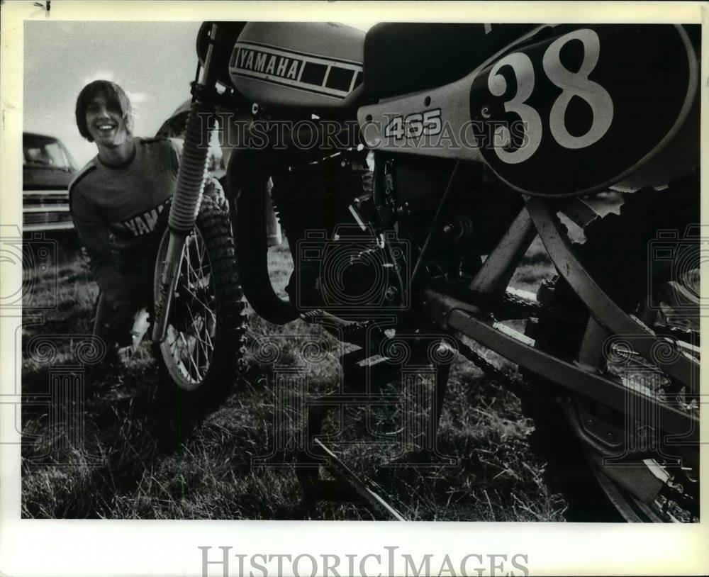 1980 Press Photo Bob Kaser, Hills, Motorcycle Racer. - orc13161 - Historic Images