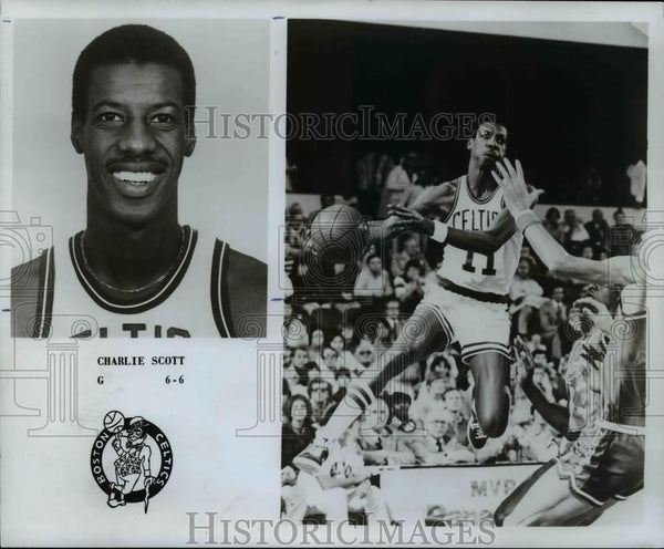 1979 Press Photo Charlie Scott, G, 6'6, Boston Celtics - orc10134 - Historic Images