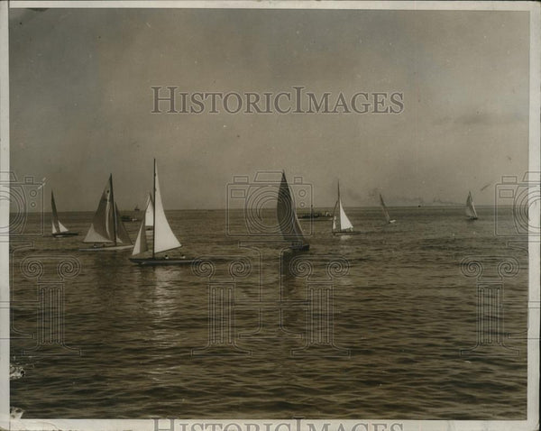 1932 Press Photo Yachts for race on Gulf of Mexico at Havana Cuba - net31019 - Historic Images