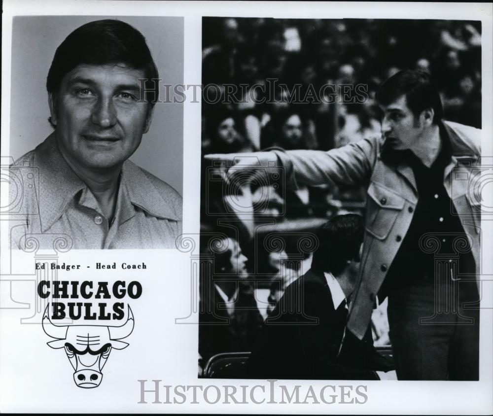 Press Photo Ed Badger - Head Coach, Chicago Bulls - orc10044 - Historic Images